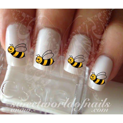 Bee Nail Art Honey Bee Nail Water Decals Wraps Spring Nails Nail