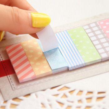 Fofo 160 páginas etiqueta Post It Bookmark apontá-lo marcador memorando bandeiras Sticky Notes-preço:1,60