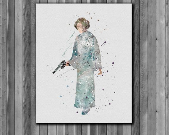Star Wars Poster Leia Organa Solo   Art Print by digitalaquamarine