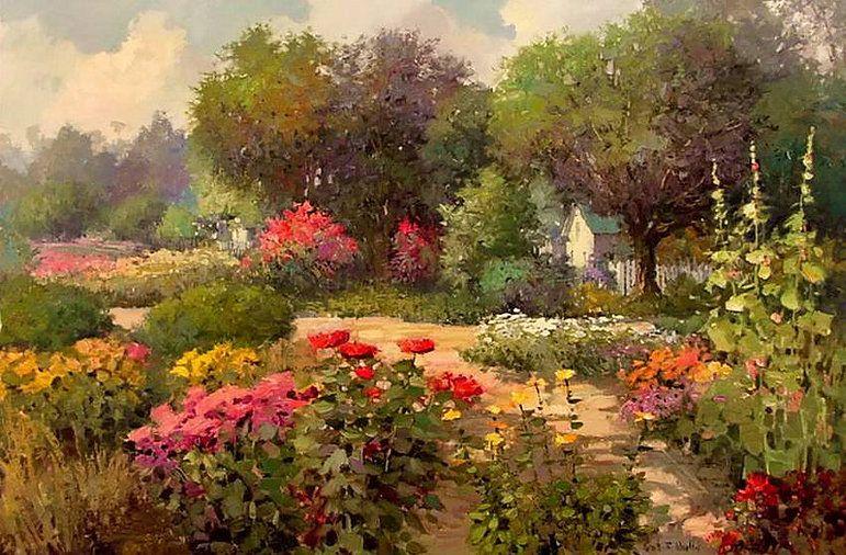 Kent R Wallis Impressionist Painter Painting Art Colorful