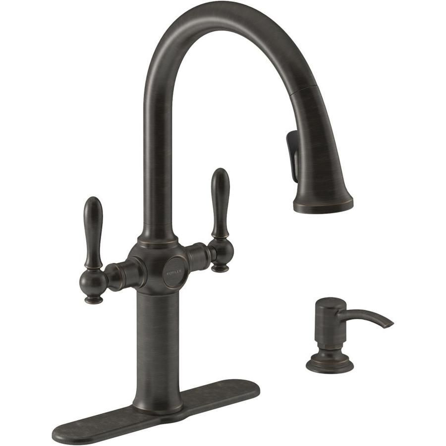 Kohler Neuhaus Oil Rubbed Bronze 2 Handle Pull Down Kitchen Faucet