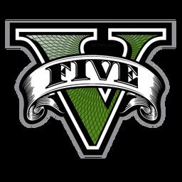 Gta V Five Logo V Only Png Icon Download Iconvert Icons Grand Theft Auto Batman Logosu Batman