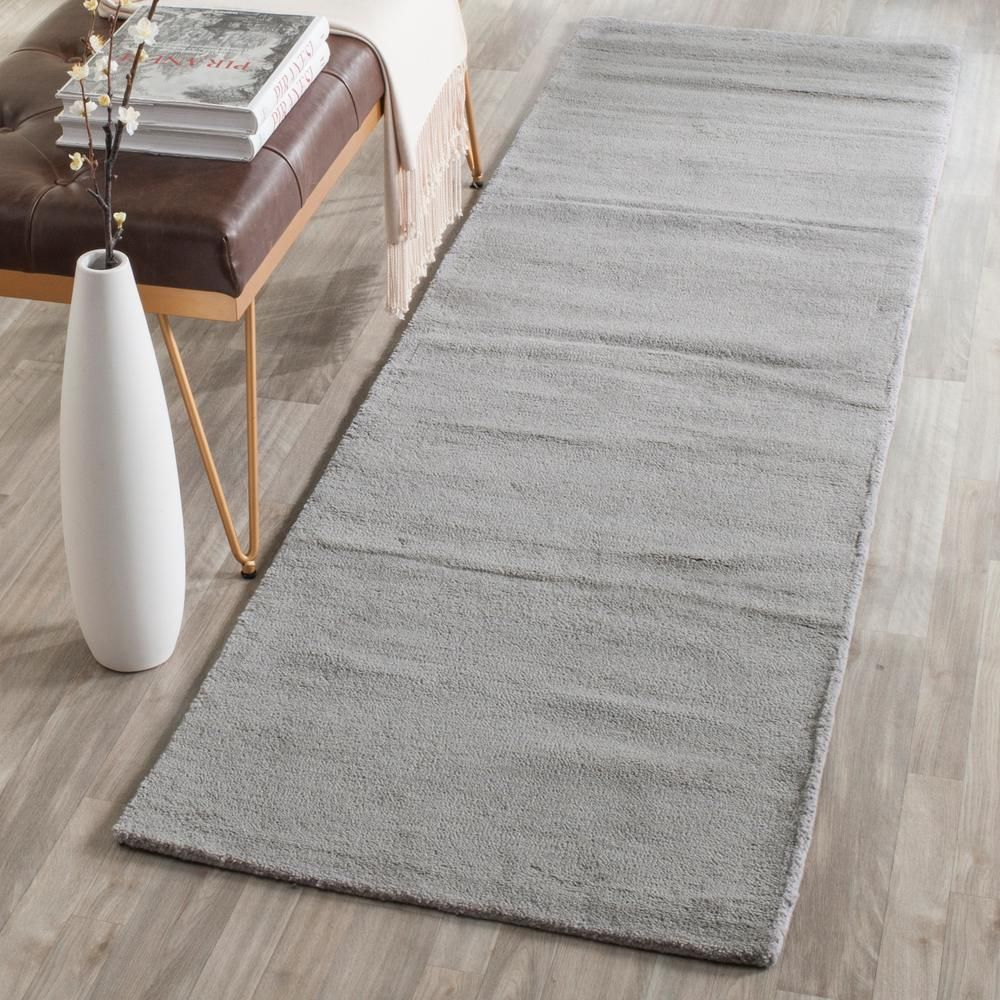 Safavieh Himalaya Gray 2 Ft X 12 Ft Runner Rug Him610k 212 In 2020 Wool Area Rugs Rugs Gray Runner Rug