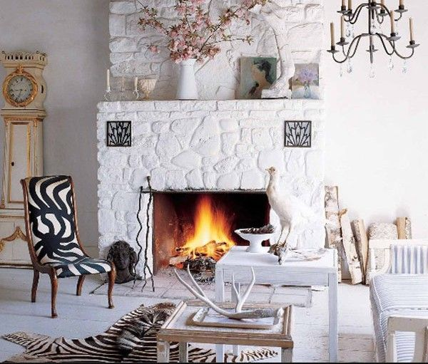 All White Stone Fireplace 40 Designs From Clic To Contemporary Es