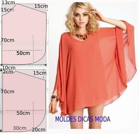 10 Cartamodelli gratis di tuniche e vestitini semplicissimi ... 2db210c4260