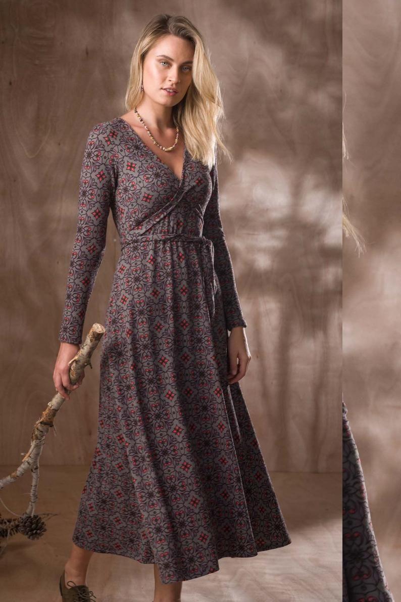 Lange Ärmel Kleid, Langes Kleid, Langarm-Kleid, Party-Kleid