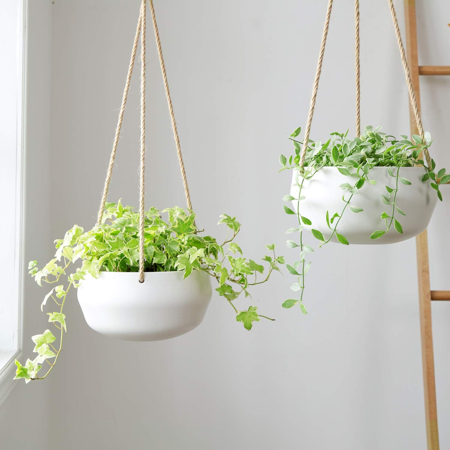 Hanging Plant Holder Rope Hanger For Plants Macrame Plant Hanger Boho Bohemian Home Decor Indoor Hanging Planter Shelf Macrame Plant Hangers Hanging Plant