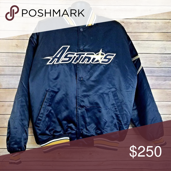 Vintage Houston Astros Starter Jacket In Beautiful Condition 9 5 10 Very Rare Starter Jackets Coats Bomber Varsity Jackets Houston Astros Mens Jackets