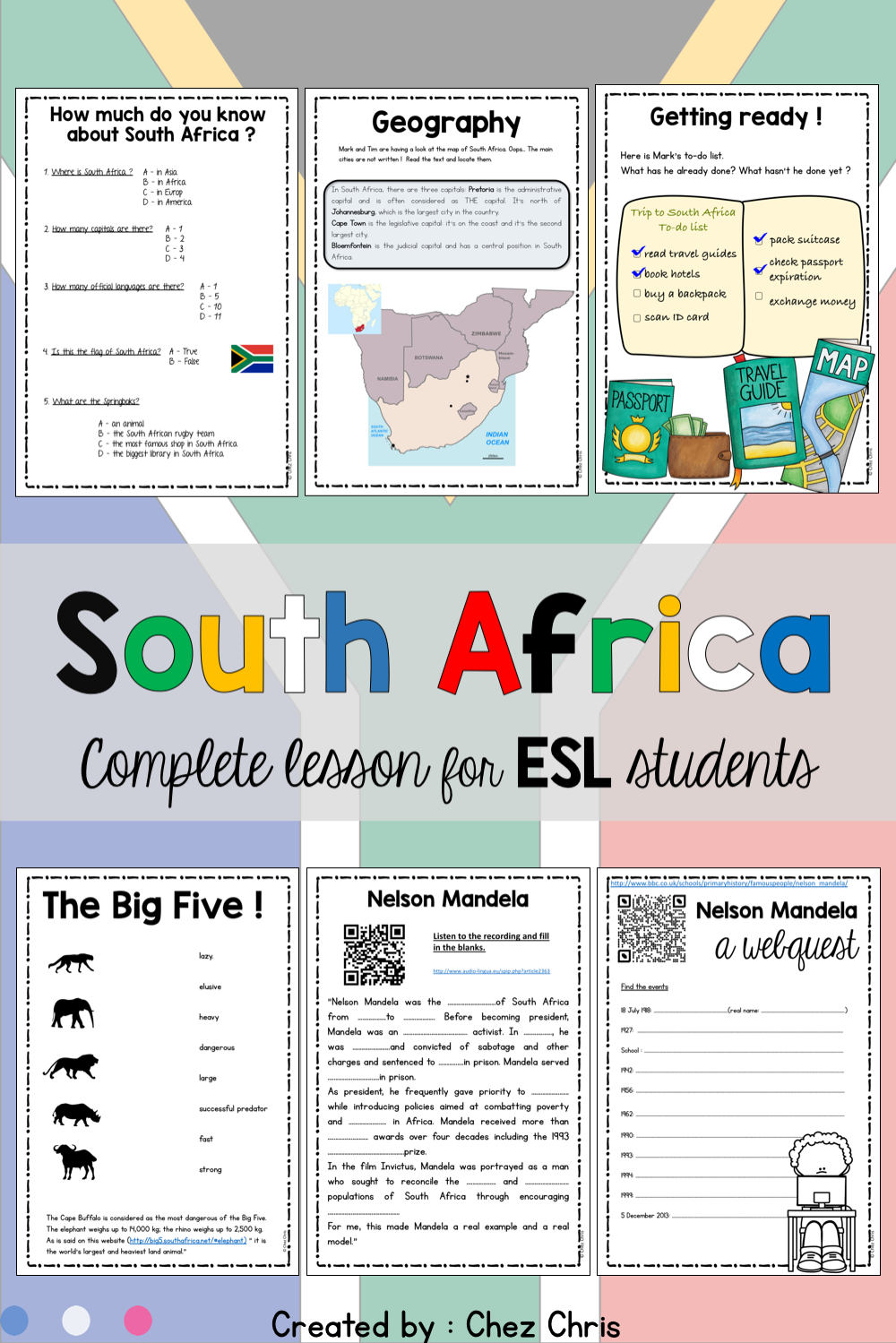 A Trip to South Africa - Complete Lesson   Africa lesson plans [ 1499 x 1000 Pixel ]