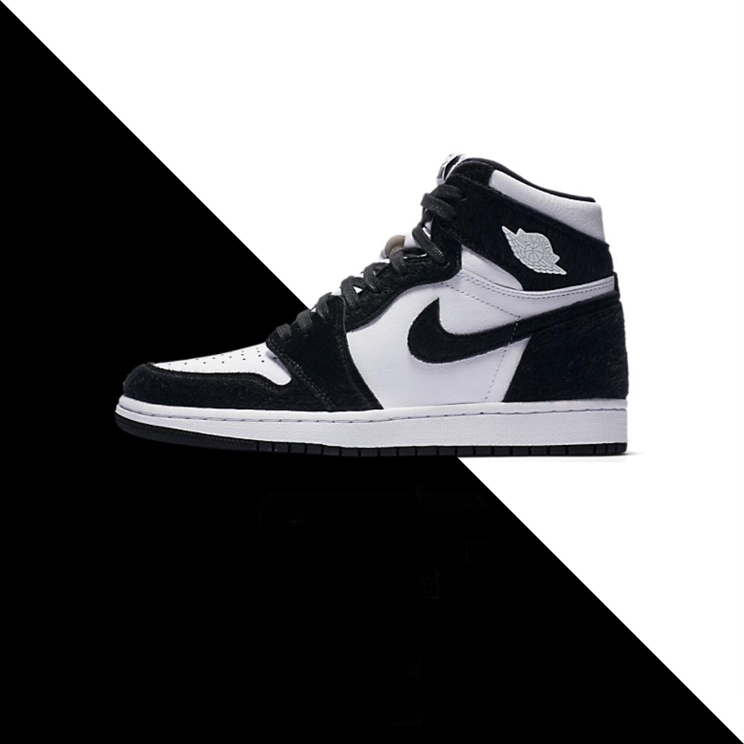 """Air Jordan 1 High """"Panda"""" CD0461007 White Black in 2020"""