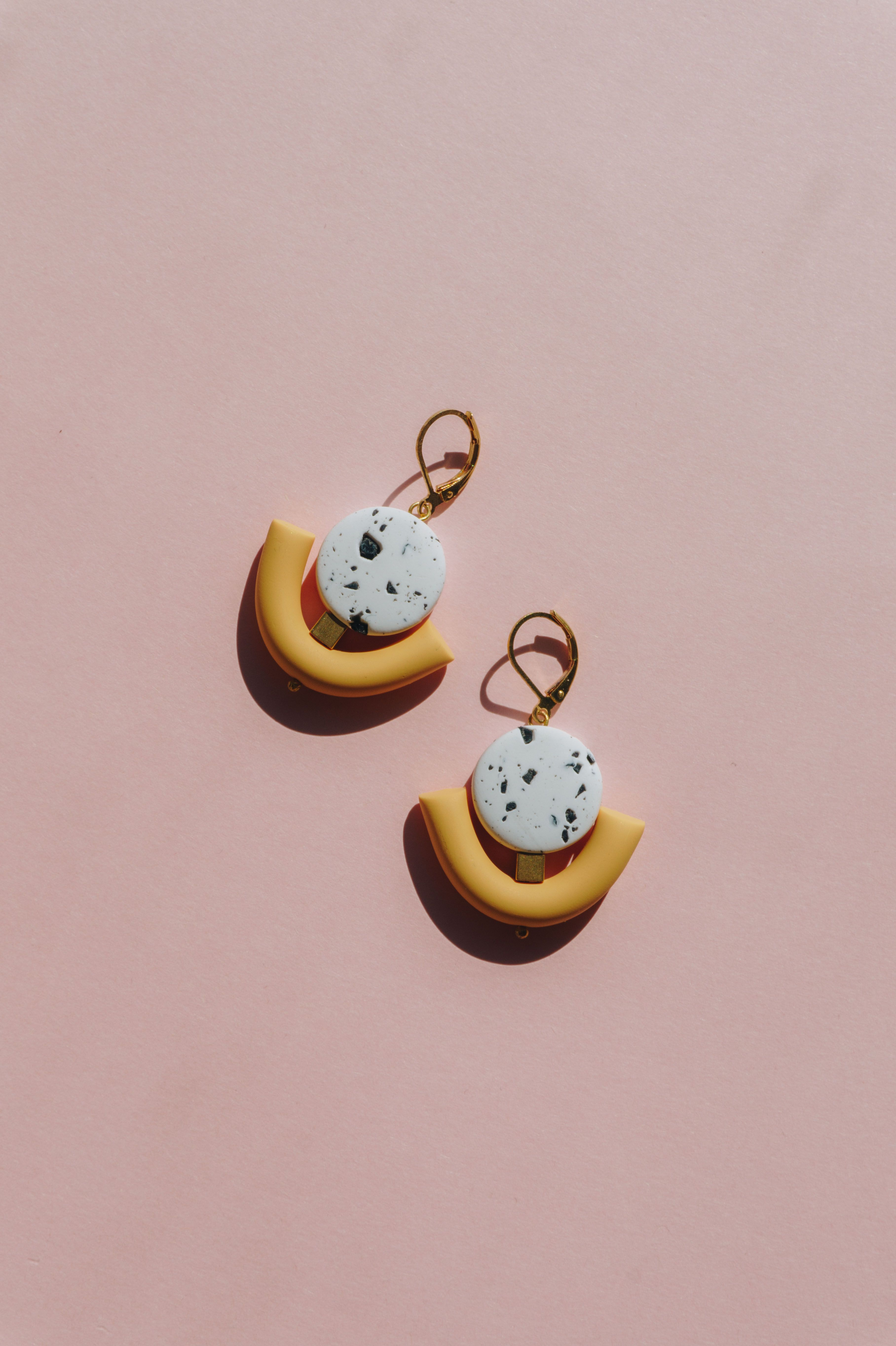 c123be52c7084 Modern minimalist polymer clay statement earrings. Unique design ...