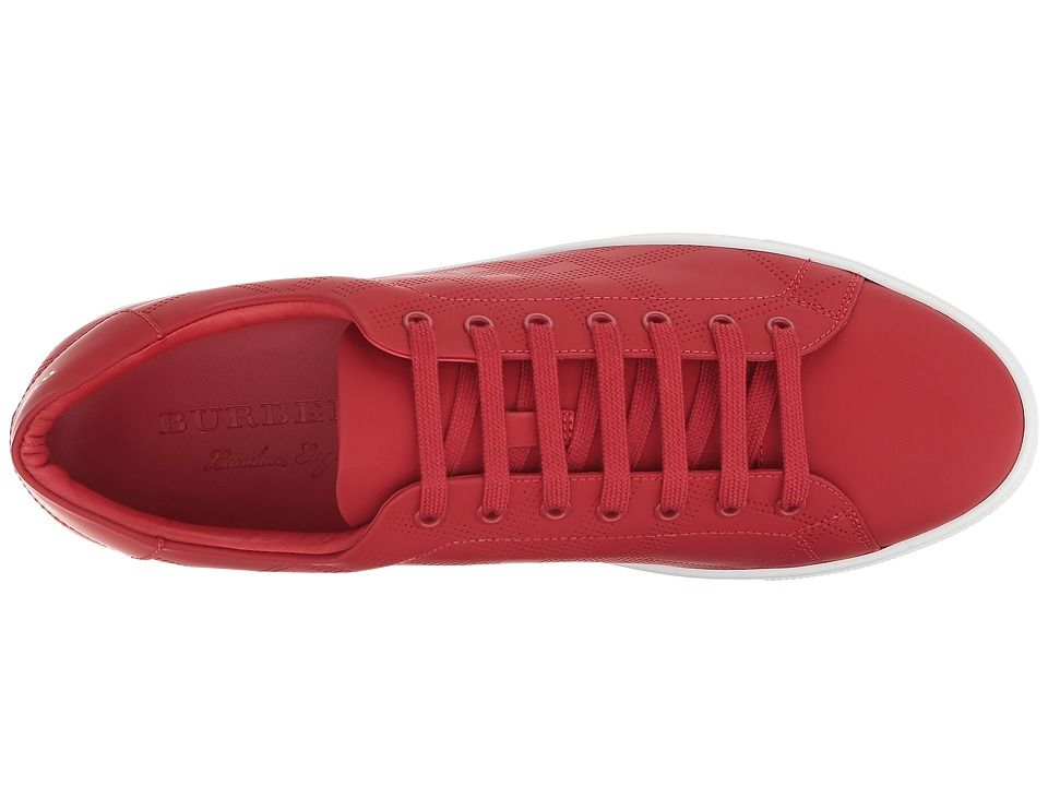 977859c8ab32 Burberry Abert Perforated Sneaker Men s Lace up casual Shoes Military Red