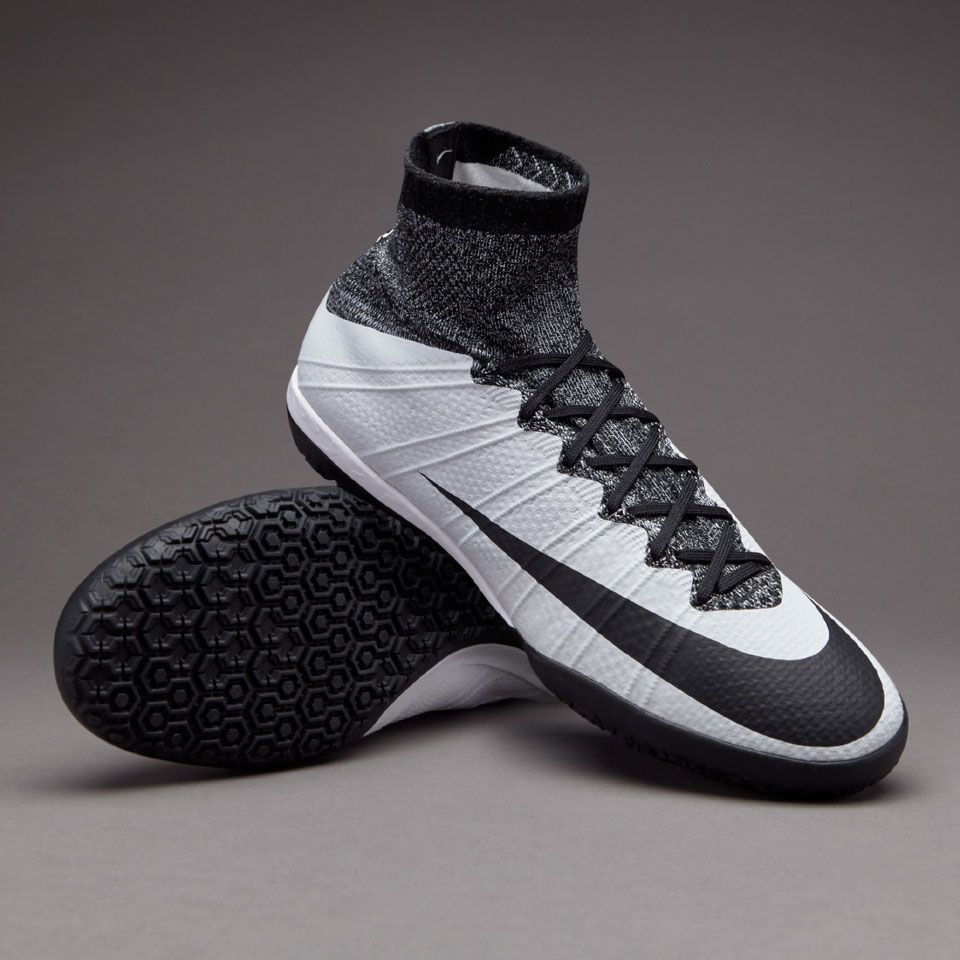 Nike MercurialX Proximo IC - Mens Soccer Cleats - Indoor - White/Black