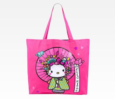 Hello Kitty Canvas Tote Bag: Nugeisha