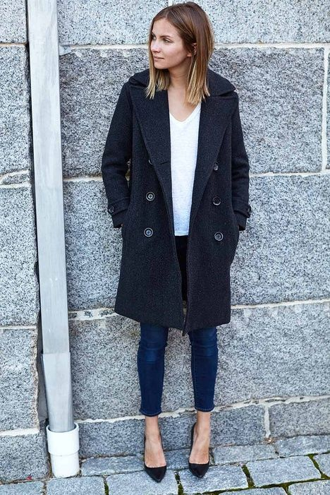 Emerson Peacoat - Charcoal Wool | Emerson Fry #womenscardigan ...