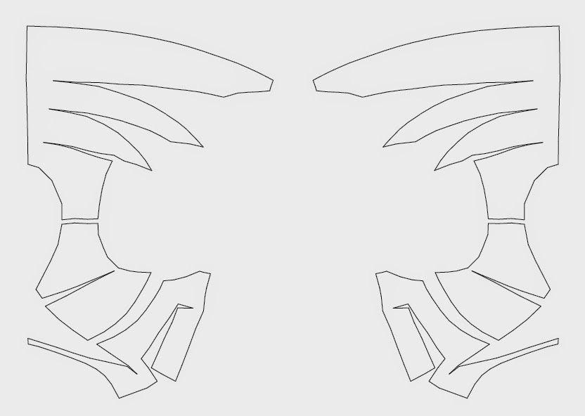 Spider-Man Face Shell DIY - Cardboard (template)