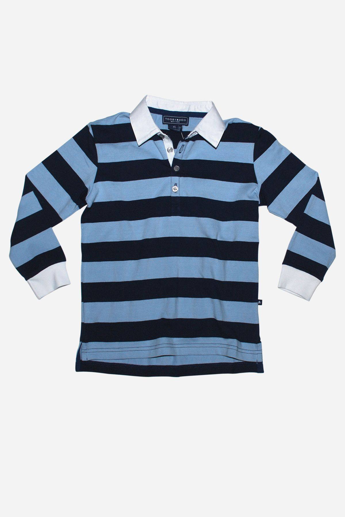 e7ac304d737 Toobydoo Blue Stripe Rugby Shirt | Rugby and Boy fashion