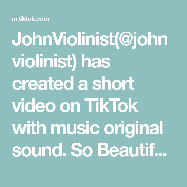 Johnviolinist Johnviolinist Has Created A Short Video On Tiktok With Music Original Sound So Beautiful Aliciakeys Wedding Violi The Originals Video Music