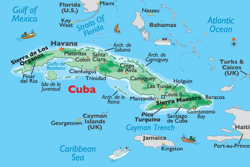 Image Result For Isla De La Juventud Map Of Cuba Cuba Cuba Facts