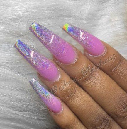 24 ideas nails holographic ombre  acrylic toe nails