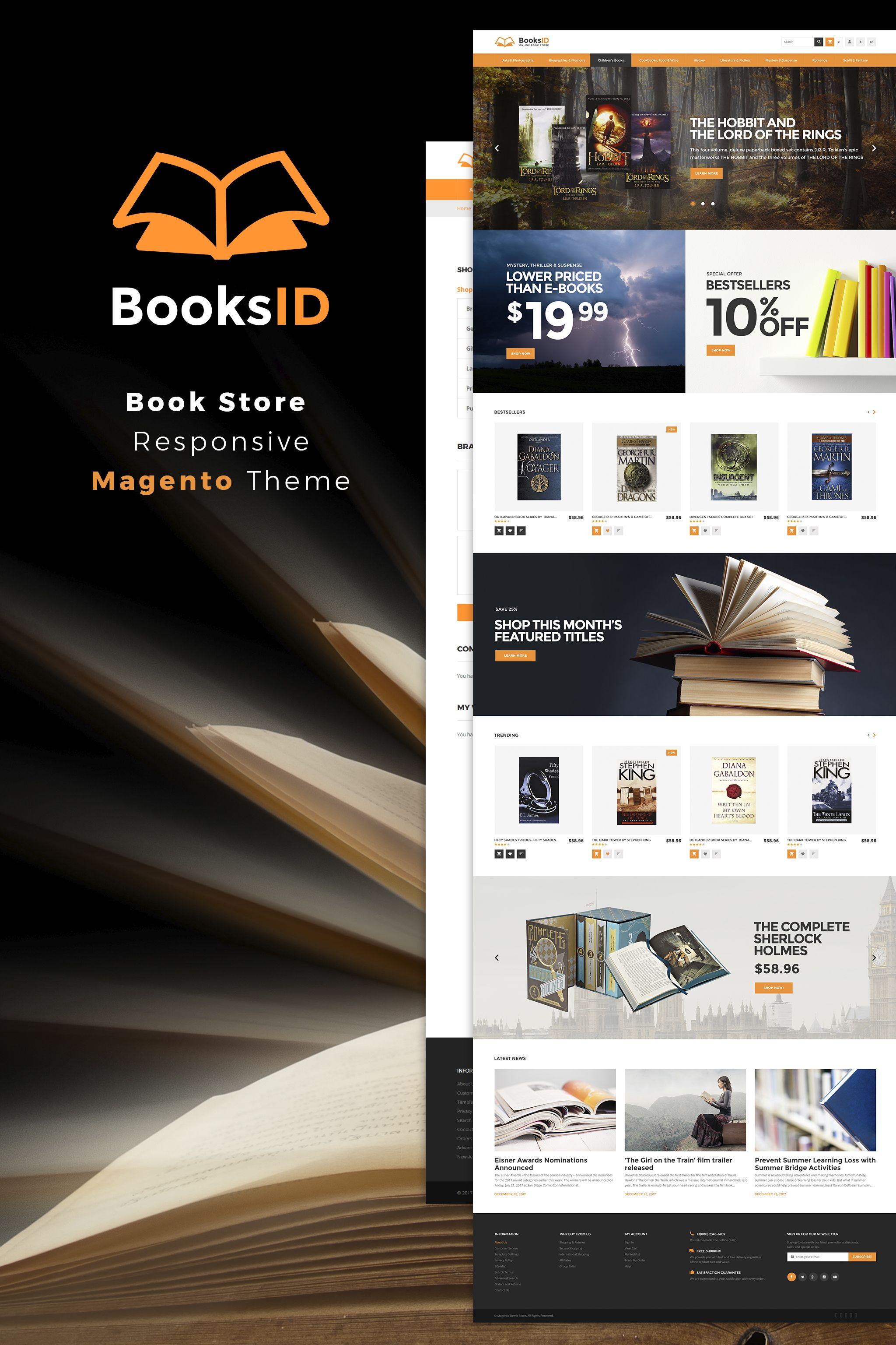 BooksID - Book Store Magento 2 Theme