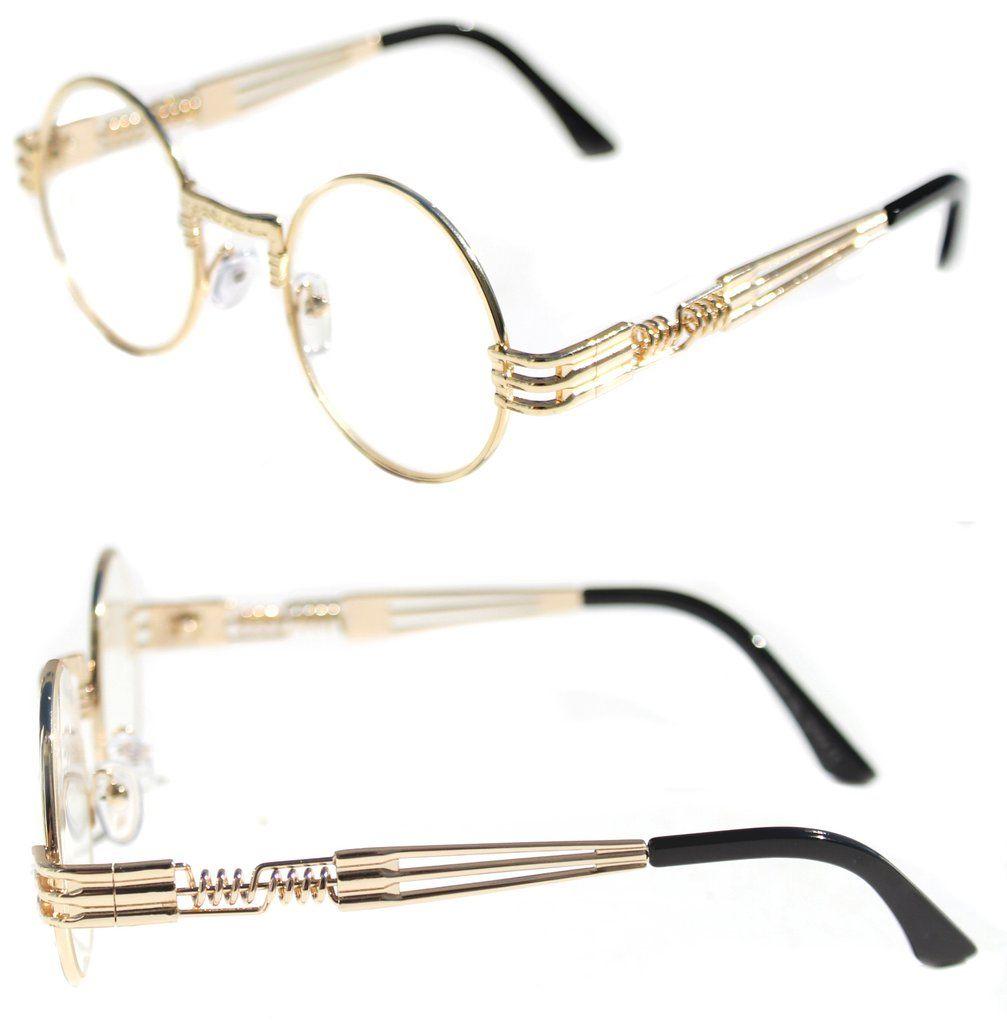 Men/'s Women/'s Round Shape Eye Glasses Quavo Bad and Boujee Hip Hop Black Gold