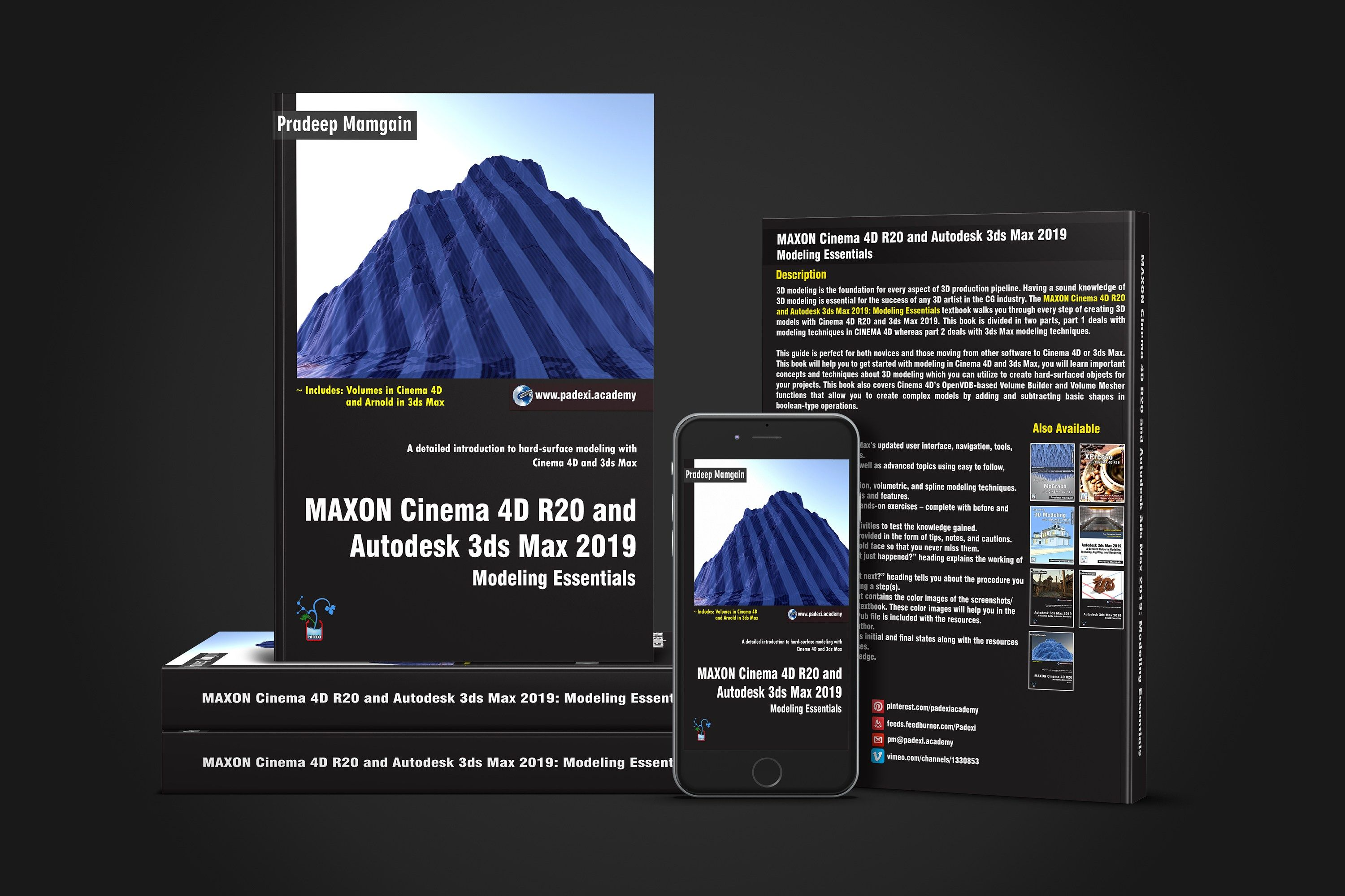 4D Max Cinema book - cinema 4d r20 and autodesk 3ds max 2019: modeling