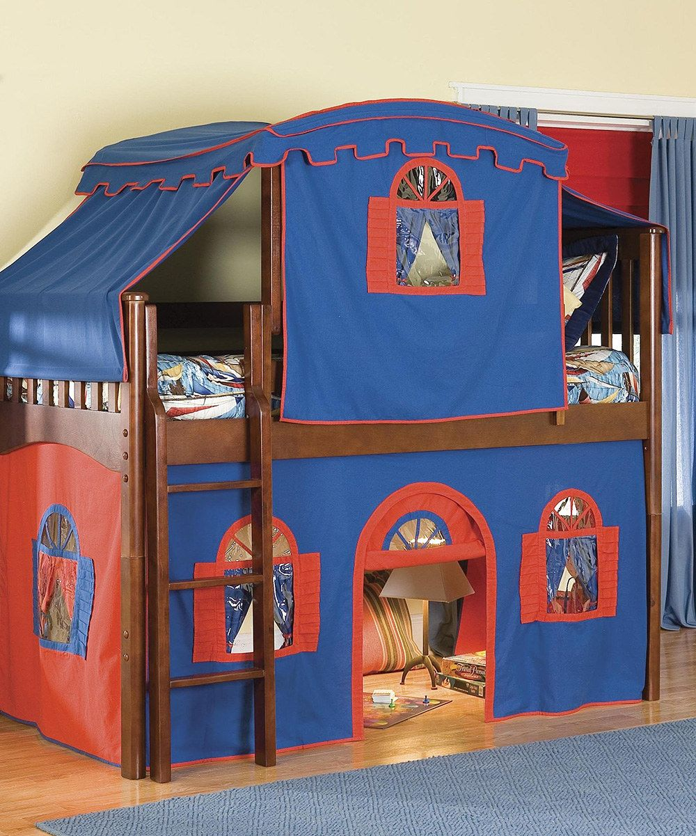 Look at this Blue Low loft beds, Loft bed, Bed tent
