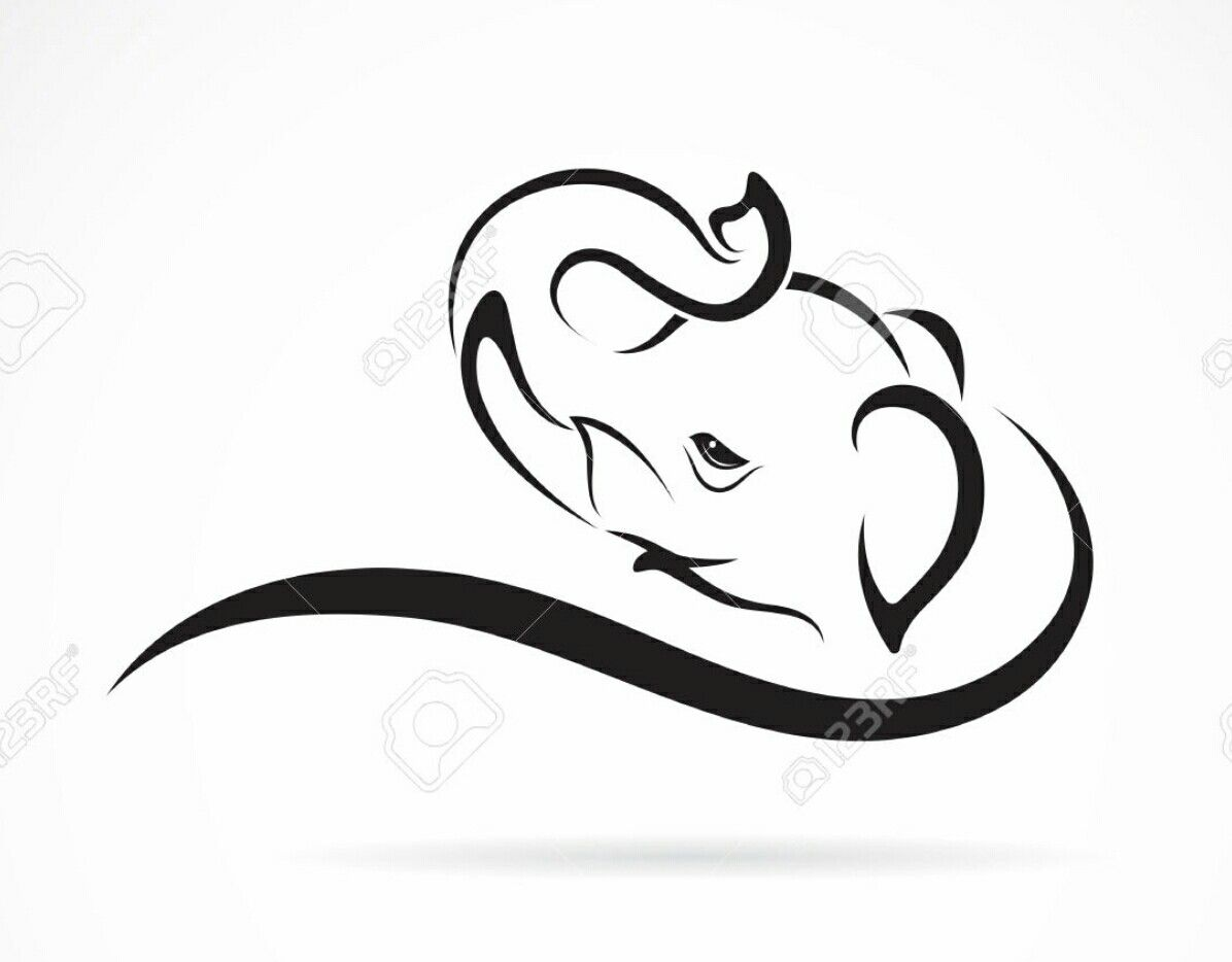 Simple Elephant Tattoo Design Elephant Tattoos Simple Elephant Tattoo Elephant Tattoo Design