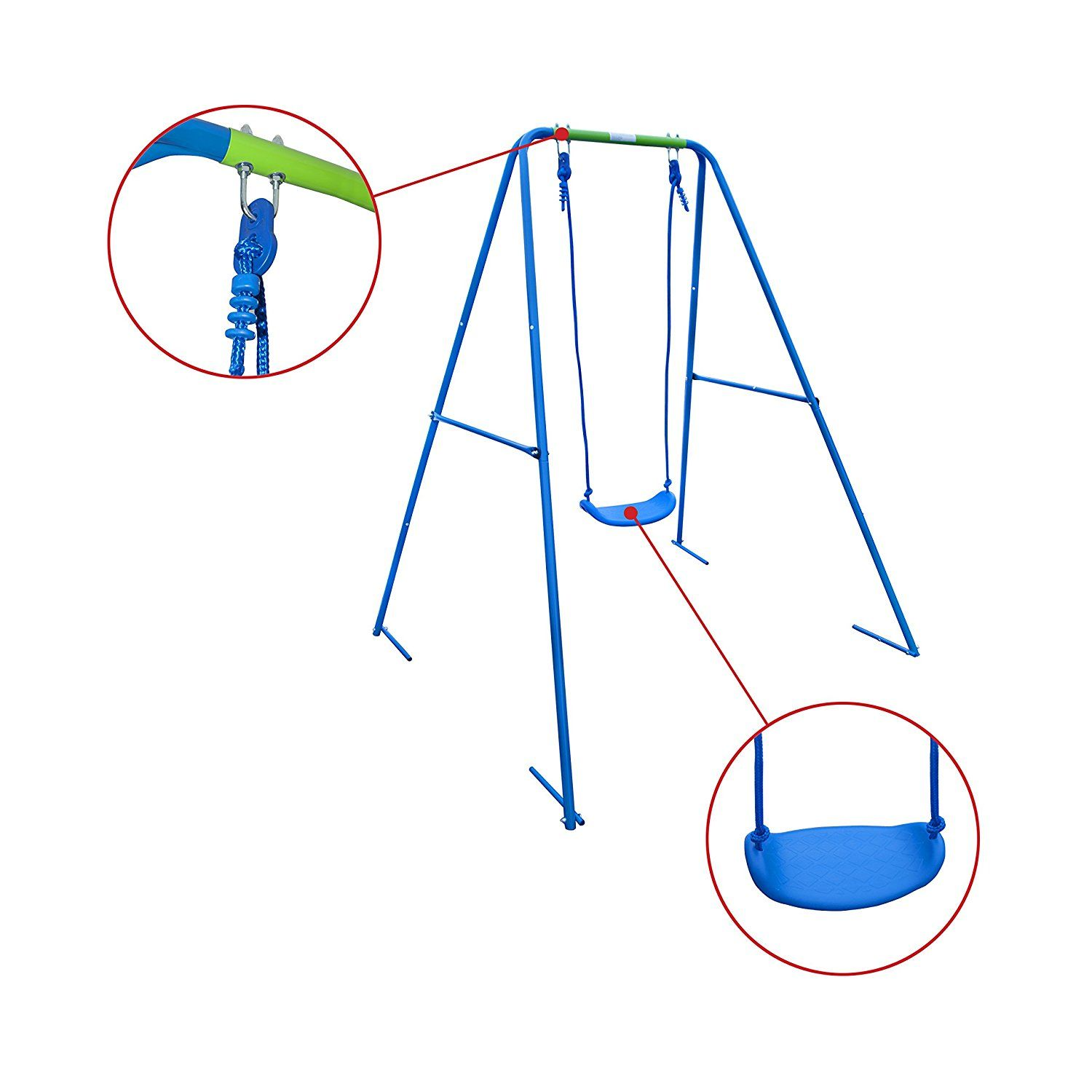 Amazon ALEKOR BSW01 Child Toddler Swing Sturdy Outdoor Seat Playground Accessory