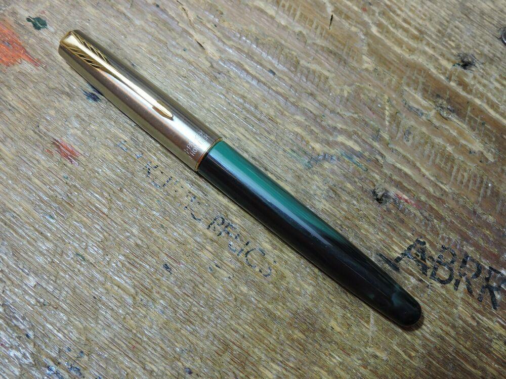 Parker Frontier Stainless Steel Matt Black In Gold /& Chrome Tone Rollerball Pen