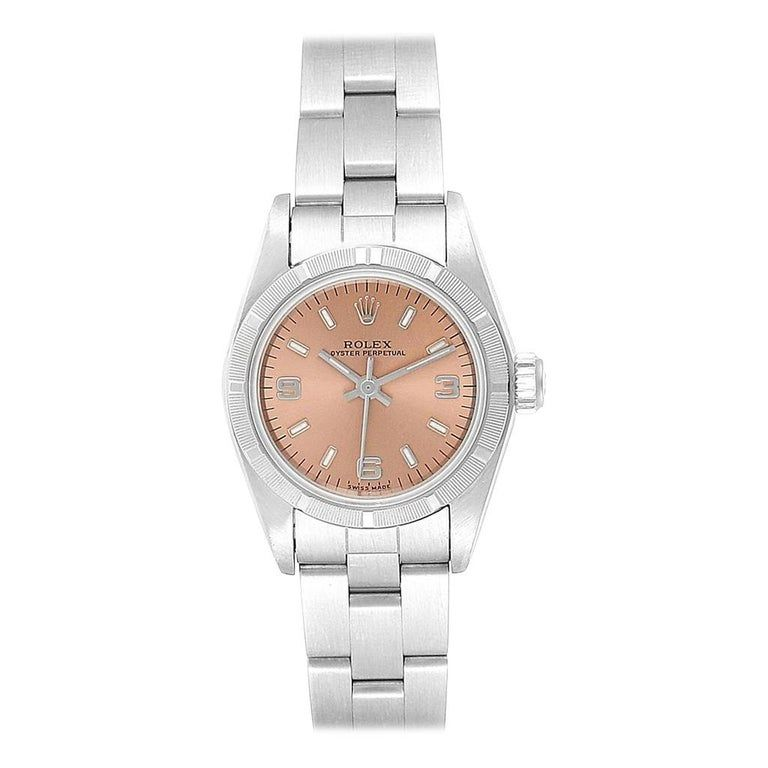 Rolex Oyster Perpetual Salmon Dial Oyster Bracelet Ladies Watch 67230 #rolexwatches