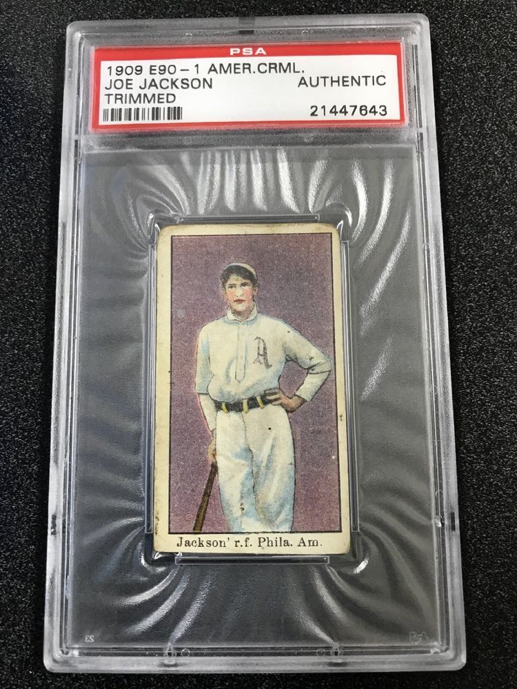 1909 E90 1 American Caramel Shoeless Joe Jackson Rookie Rc