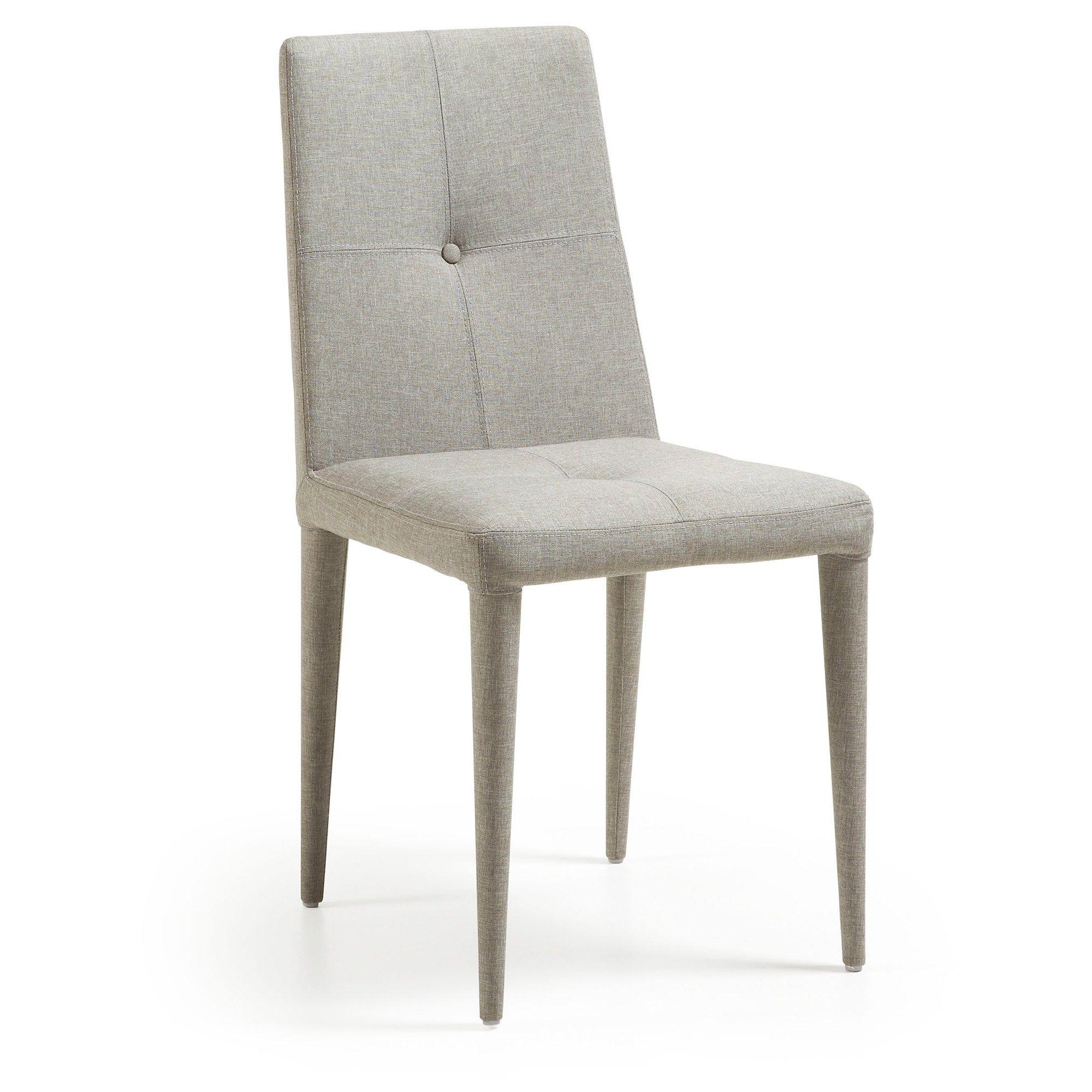 Silla cust gris claro arquitectura sillas comedor for Sillas comedor clasicas tapizadas