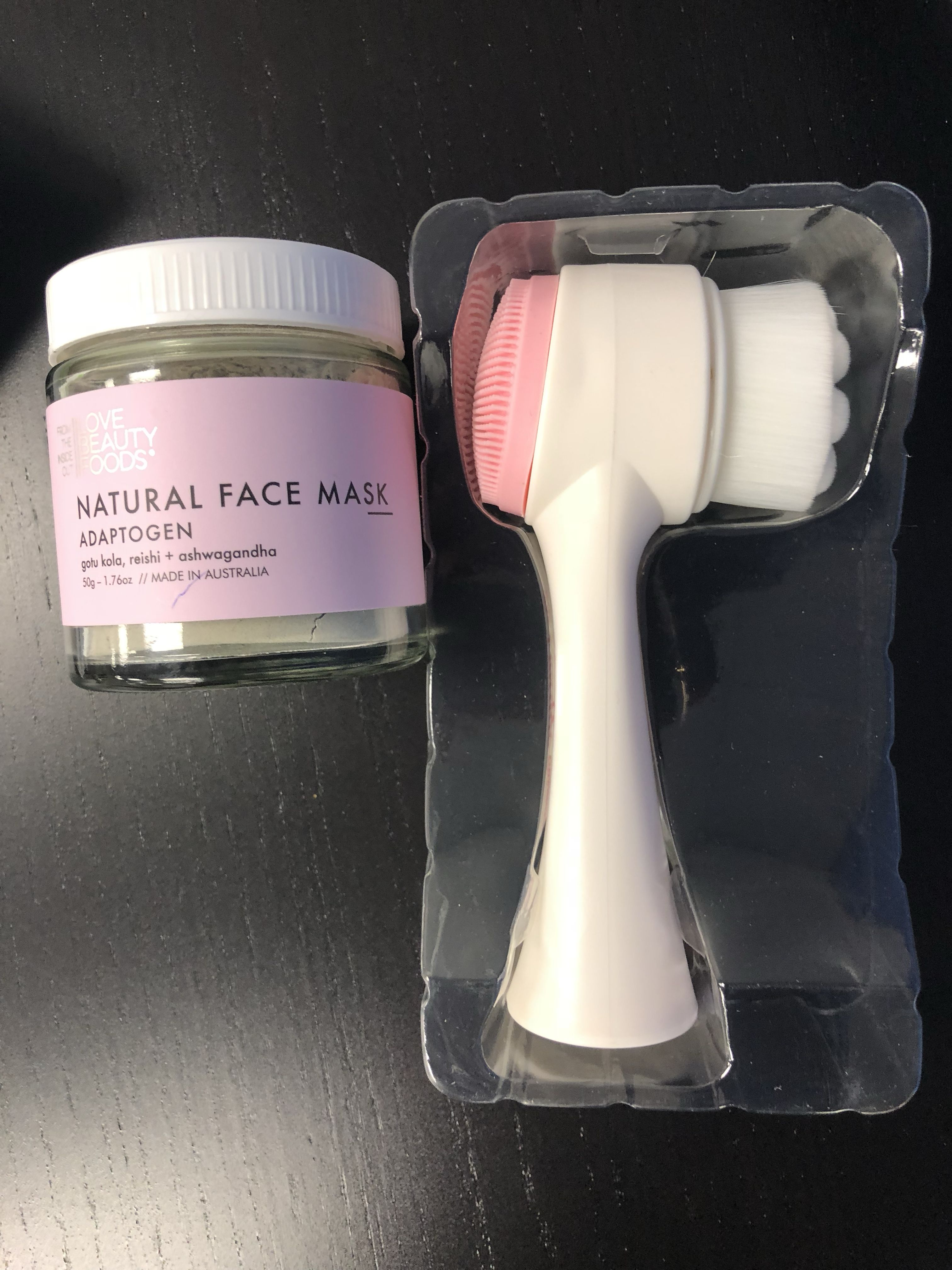 Natural face mask , soft bristled brush . Super soft like