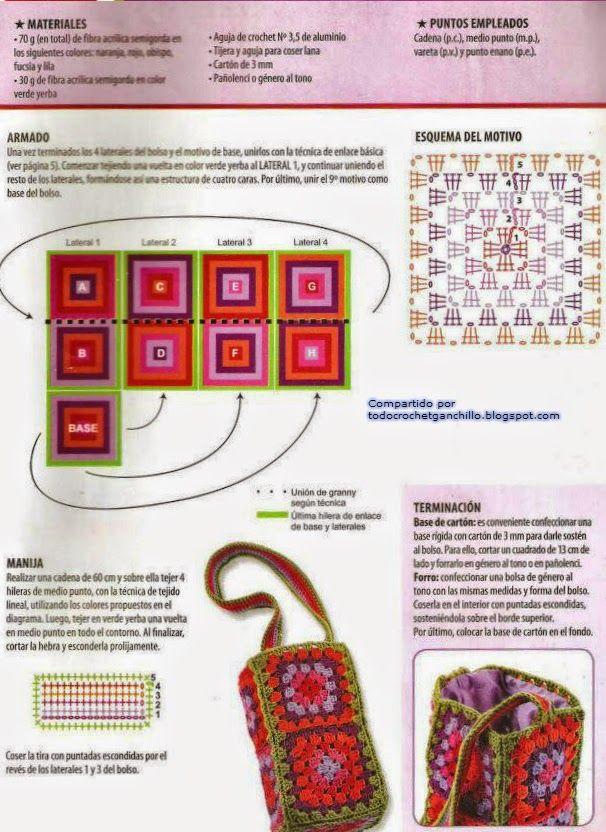 Como hacer bolsos tejidos hacer puntos de cadeneta - Como hacer bolsos tejidos ...