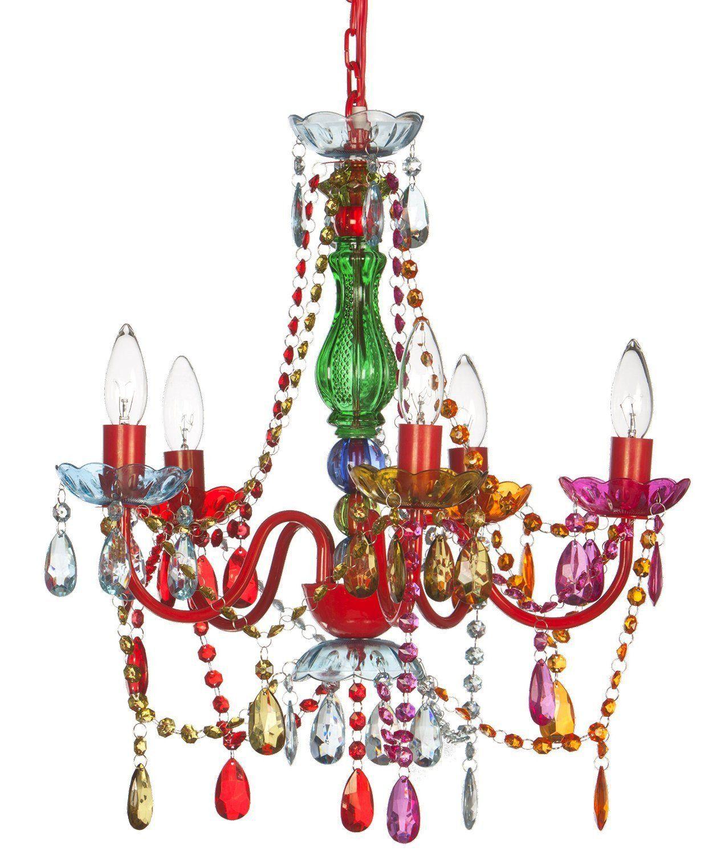 Mallori Multi Color Acrylic Crystal Boho Gypsy Chandelier In 3 Sizes