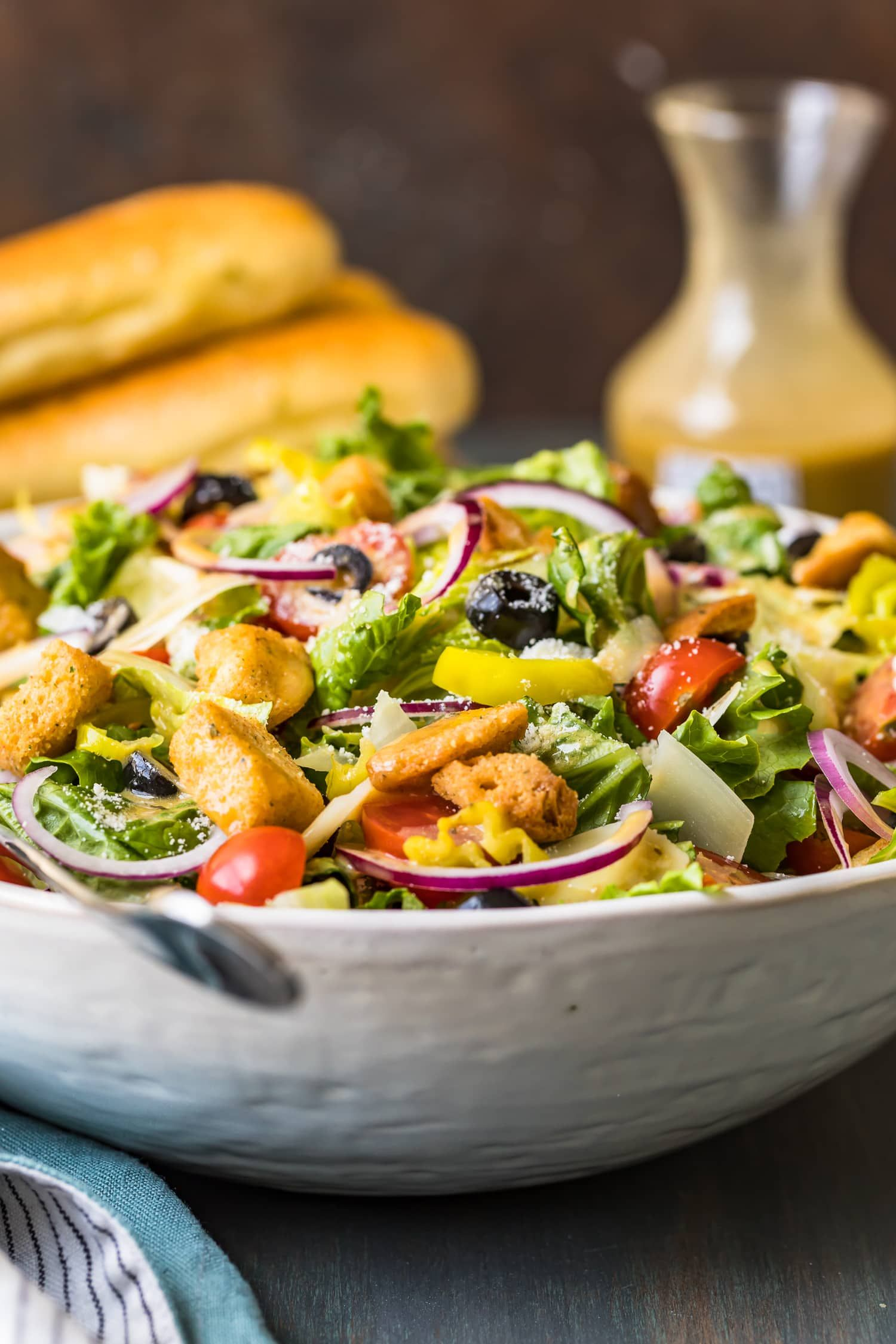 Olive Garden Salad with Copycat Dressing The Cookie