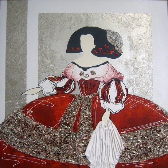 Cuadro menina rojo galer a ebh en 2019 cuadros de - Cuadros de meninas modernos ...