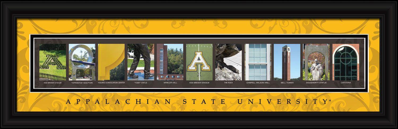 Appalachian State University Officially Licensed Framed Letter Art ...