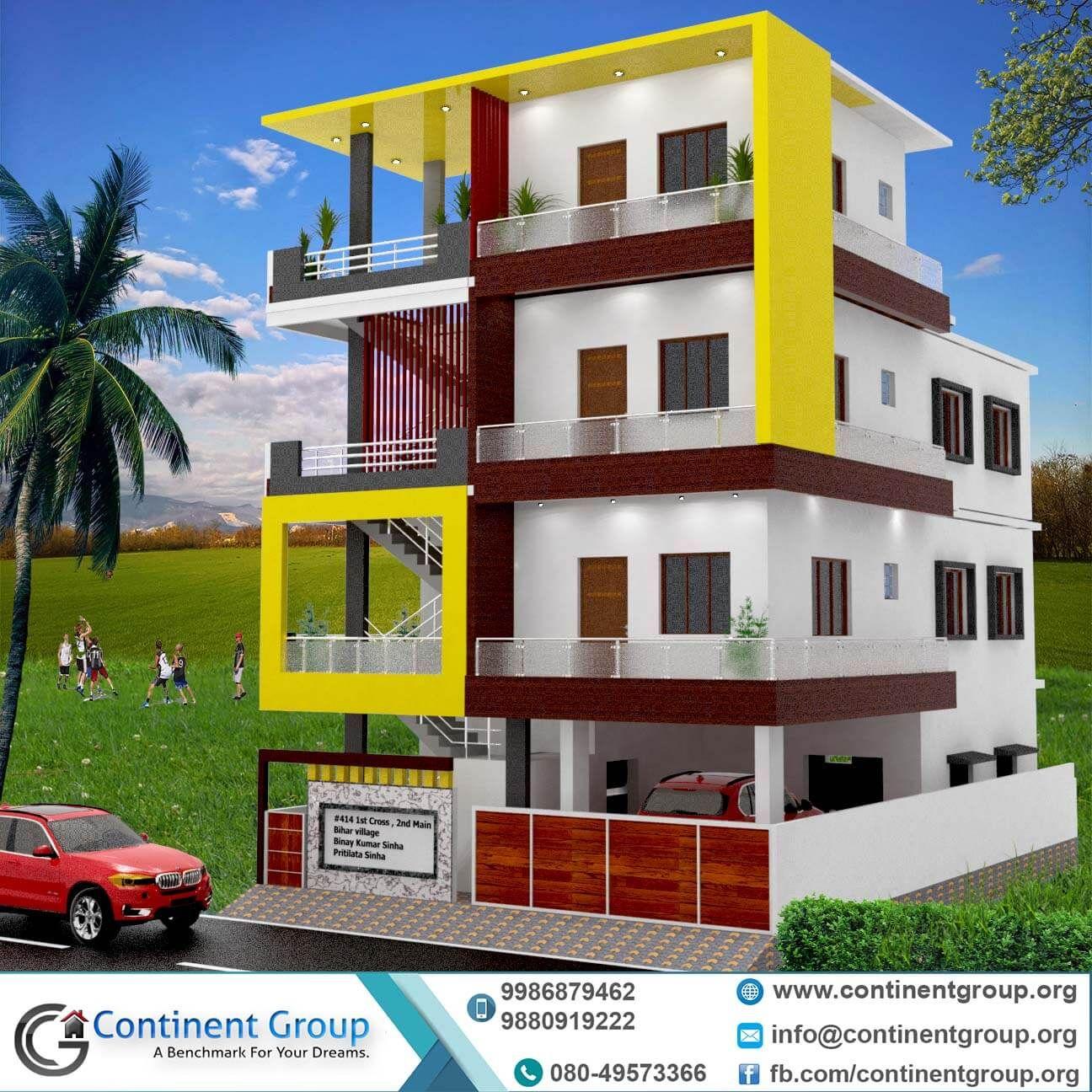 Building Elevation 3d Front Elevation Bangalore House Front Design Building Elevation House Outer Design