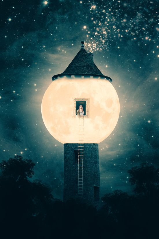The Moon Tower Art Print by Paula Belle Flores