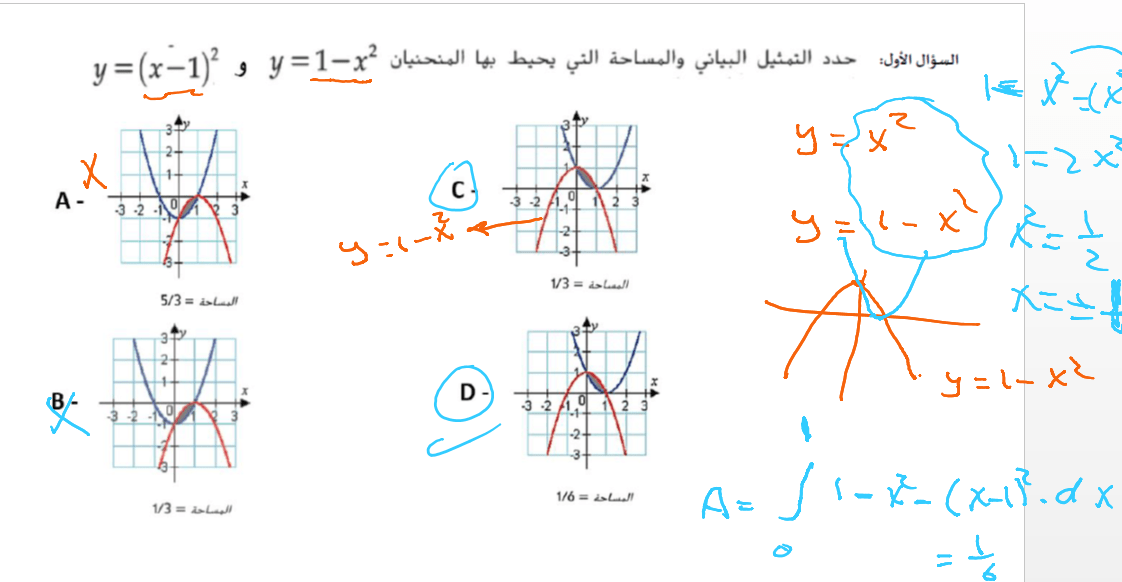 الرياضيات المتكاملة بوربوينت مراجعة للصف الثاني عشر Math Chart Math Equations
