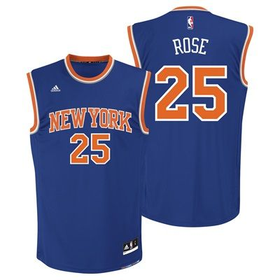youth derrick rose knicks jersey