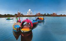Taj Mahal from Yamuna River, via @getsholidays https://www.facebook.com/getsholidaysdeals http://GeTSholidays.com/ Value Tours India