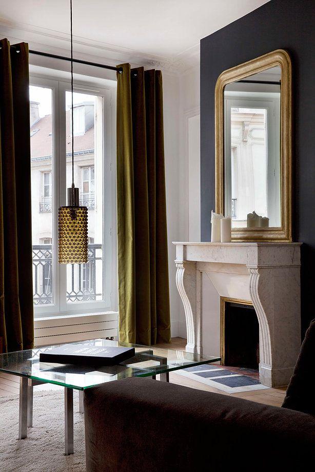 agencement et decoration d 39 un pied terre en plein coeur du marais decor pinterest. Black Bedroom Furniture Sets. Home Design Ideas