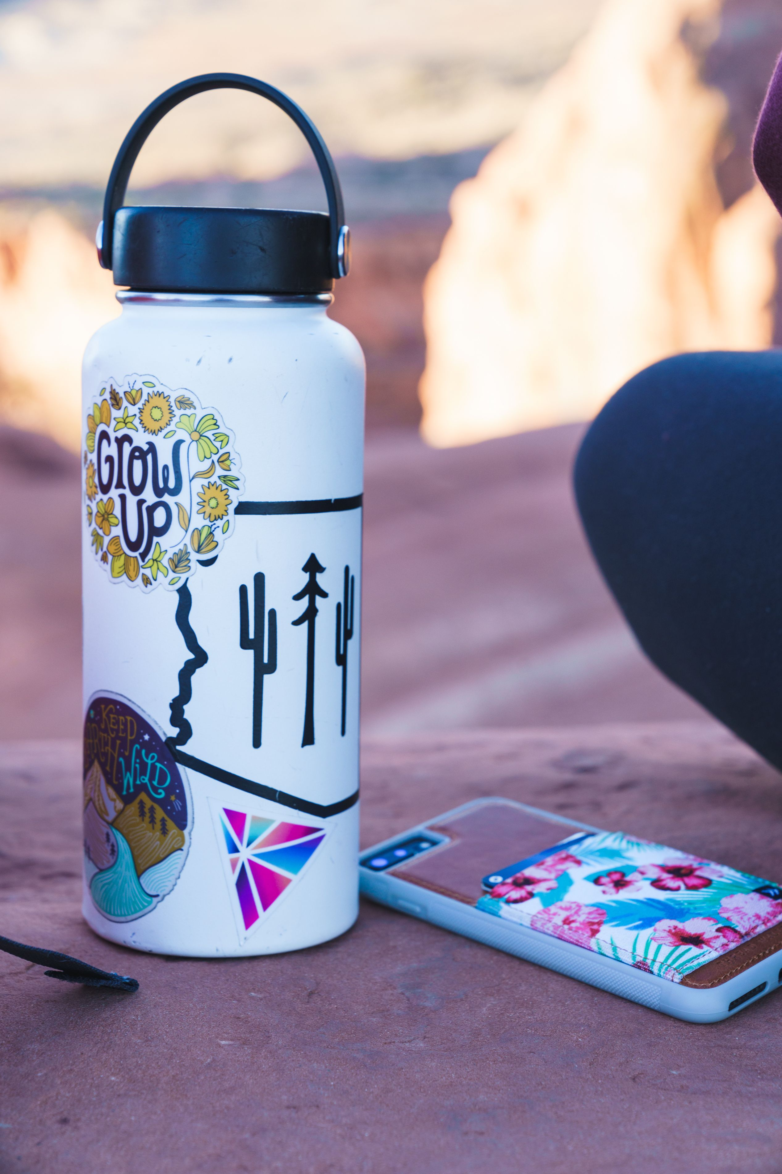Covering it with your favorite stickers weve got lots of outdoor inspired vinyl stickers so that your hydro flask will never be
