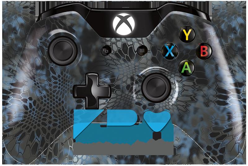 Custom Kryptek Neptune Xbox One Controller KwikBoy Modz