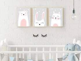A4 Drei Poster Print Kinderzimmer, Bild x3 Poster