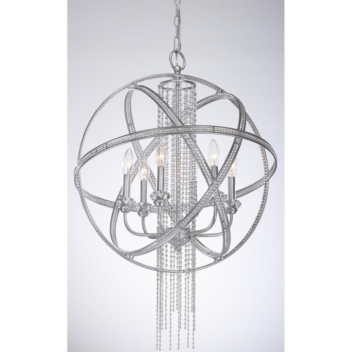 Dripping crystal sphere chandelier 6 light our new home kitchen dripping crystal sphere chandelier 6 light aloadofball Image collections